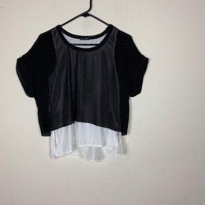 Zara- Black Net Blouse size small